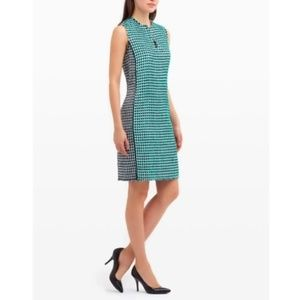 Carlisle Delancy green tweed sheath dress